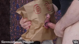Brutal facefucking and rimming in one paper bag after another