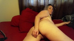 BBW anal fuck with dildo