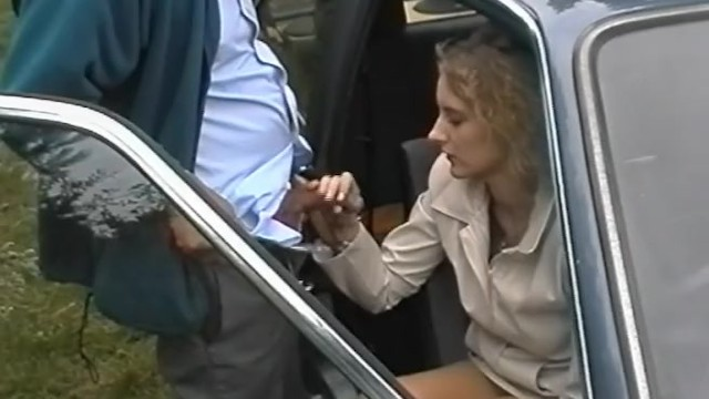 Retro senior woman porn pics - Old grey haired guy fucks younger woman outdoors
