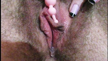 Close up big clit torturing and cumming with different types of vibrators