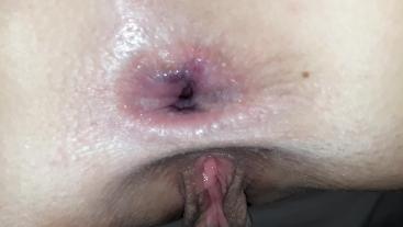 Dad pumps me full of his cumming. Sweet anal