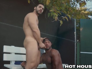 Hothouse sexy arab black guys being slick with...