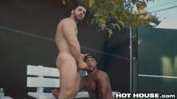 HotHouse Sexy Arab Black Guys Being Slick With The Dick In Public