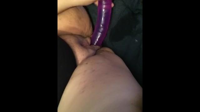 BBW fucks fat pussy with double dildo 5