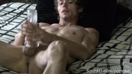 Lean Hot Stud Derrick Dickem Poses and Jerks Off for SpunkU