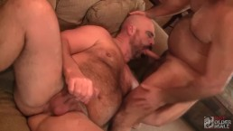 Daddy Bears Giovanni and Vino go at Each Other's Holes
