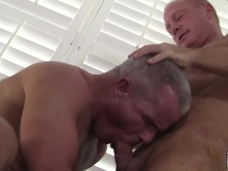 Hot Silver Daddies Fuck on the Job Site