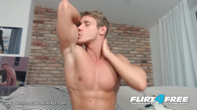 Gay model atlanta - Eluan jeunet on flirt4free - perfect ripped model stroking his huge cock