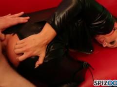 Spizoo - Petite Abigail Mac fucking a huge cock, bubble butt & huge tits