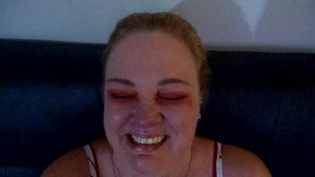 Massive Facial!!! Redhead makes a huge cum mess! Too much cum! 2