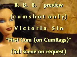 """B.B.B.preview Victoria Sin """"1st cum on CumRags"""" with Slo-Mo cumshot only"""