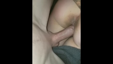 My bestfriend let me wake his gf up with creampie