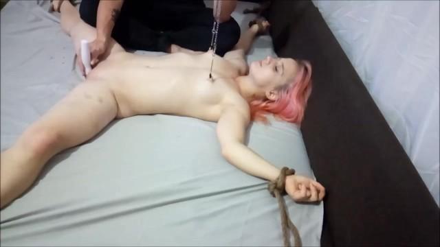 Teen bed bondage