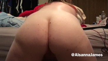 Naked BBW Bouncing Fat Ass