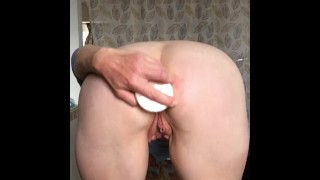 Quickie After Work Ass Fucking Masturbation