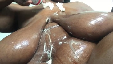 BBW- Ebony Plays W/ Huge Breast In Chocolate & Whip Cream. Want A Taste?
