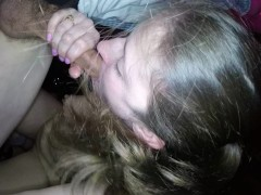 HUGE 50 guy plus gang bang! ALL cummed in my mouth, Part 1
