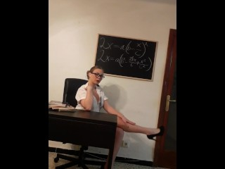 JOI ROLEPLAY - Young teacher gives jerk off instructions with countdown.