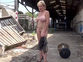 Sonia strips completely nude outdoors...