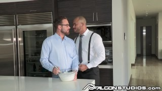 FalconStudios Hunk Interracial Daddies Fucking & Licking Dessert