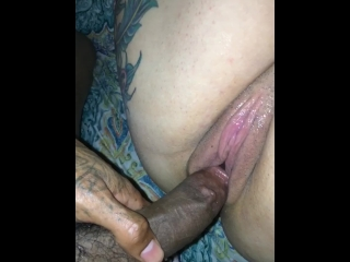Rubbing My BBC On LondonValentines Pretty Pussy Before I Get Her Creamy