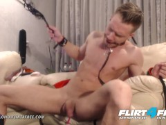 Steve Blond on Flirt4Free - Hot Euro Stud Tortures Himself with Bondage