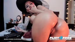 Nana Florez on Flirt4Free - Latina Hottie Bends Over Spreading Her Sexy Ass