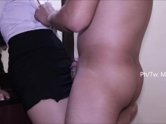 Cheating pinay secretary creampied by her boss after work