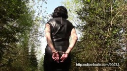 Leather wife walk in handcuffs (Older video)