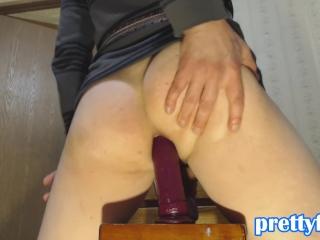 Bubble Butt Twerking on Dildo  prettyfly95