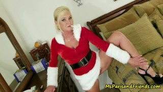 Ms Paris Rose is Santa's Smoking Hot Helper