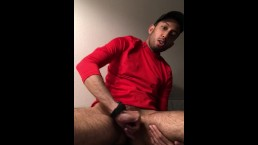 Horned up the walls. Verbal orgasm with ejaculate/piss play.