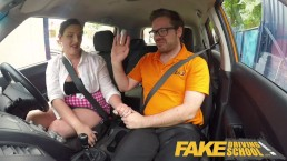 Fake Driving School Busty curvy learners horny blowjob and fucks to orgasm