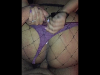 Big booty Asian gets cuffed and fucked doggy style