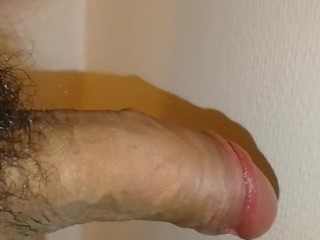 Uncircumsized cock, quick cumshot, fourth cum otd barely any cum left
