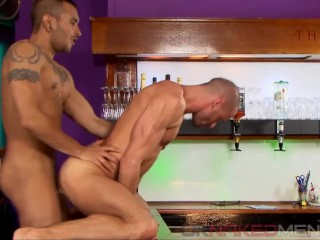 Axel Ryder takes Lucio Saints' huge uncut cock to the hilt