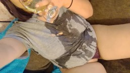 Pouring piss all over myself!!! I drank some too hehehe