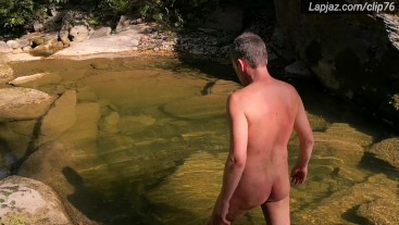 2 by river: Solo Male Wanking & Washing - Lapjaz.com Ecosexual Ecoporn