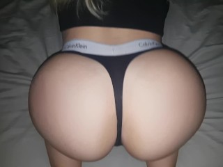 Big ass booty shake spanking with pussy fuck and creampie