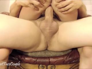 cumming hard in chair...