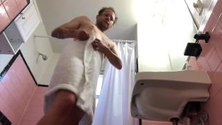 FTM transgender taking a shower