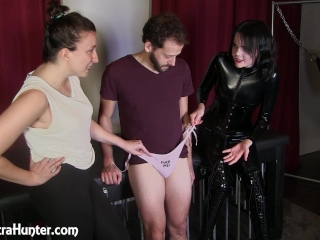 Humiliated for having a small dick & put into panties