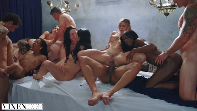 Raygold vicky blowjob video - Vixen tori black in the greatest orgy ever filmmed