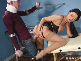 Brazzers -  Sexy doctor Ania Kinski fucks patient's big cock
