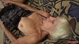 Mature Blonde Mimi Smith Fucks Her GILF Pussy