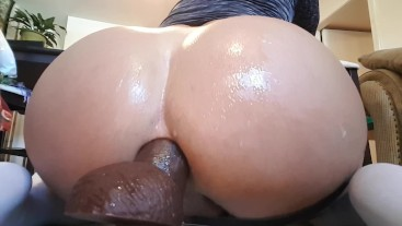 Big ass femboy moan riding BBC