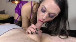 4k Sloppy Deepthroat with gut juice - her throat is totally destroyed!!!