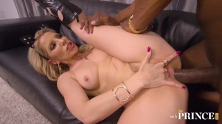 FIT BLONDE COUGAR ASHLEY FIRES GETS A BIG BLACK COCK UP HER SLUTTY ASS