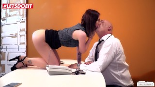 German Cute Secretary Fucked Hard By Older Boss #LETSDOEIT