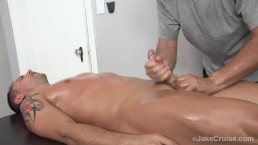 Wolfie Blue Massaged by Jake Cruise